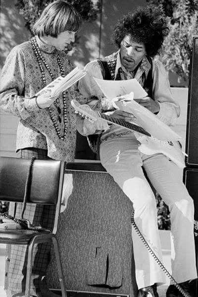 Jimi Hendrix and Peter Tork