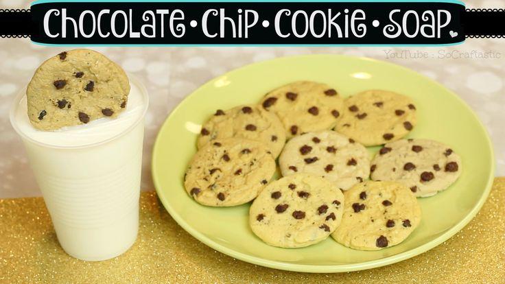 ♔ Beauty Video - tutorials: DIY Cookie Soap // Chocolate Chip Cookies & Milk // Melt & Pour Soap Mak...