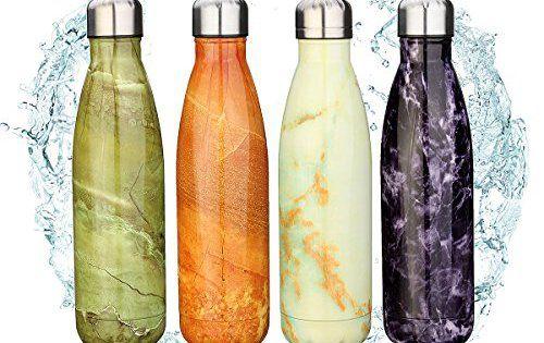 KING DO WAY 500ml Bouteille D'eau Isotherme Thermos Mug Flasque Réutilisable En Acier Inoxydable Pour Sport Camping Randonnée Water Bottle…