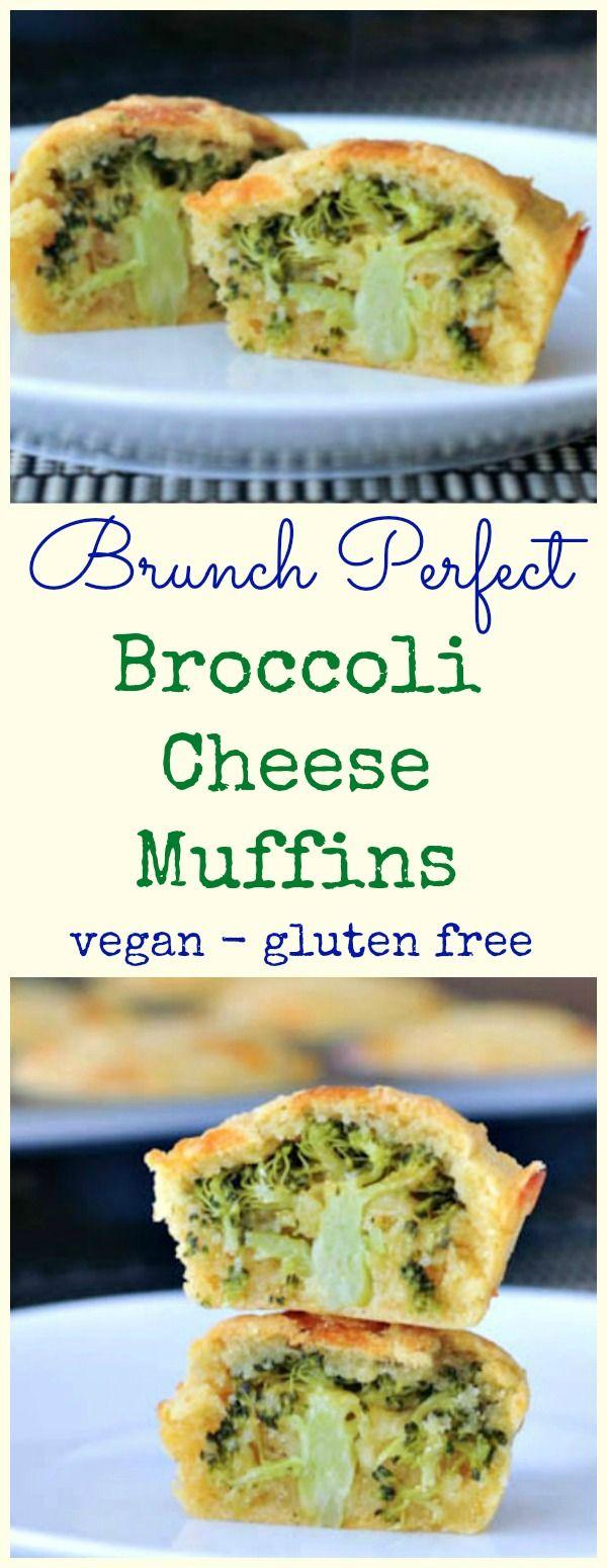 Vegan Broccoli Cheese Muffins #vegan #glutenfree #brunch #fun