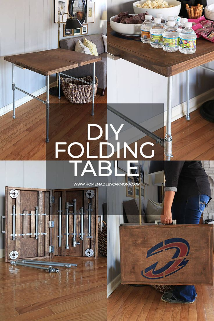 DIY Industrial Folding Table