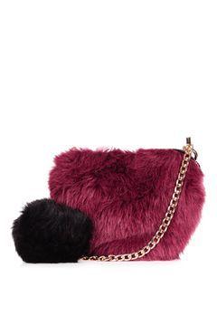 Faux Fur Heart Bag - Topshop: £15
