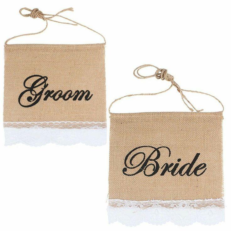 Mr & Mrs Burlap Chair Banner Set Chair Sign Garland Rustic Wedding Party Casamento Decoration Wedding Favors