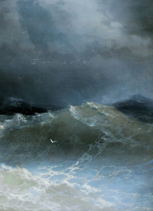 "artdetails: "" "" Ivan Aivazovsky, Waves (detail), 1849 "" """