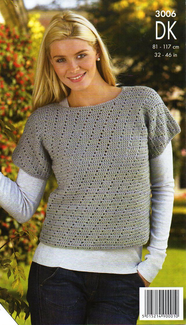 "womens crochet top waistcoat Crochet pattern PDF DK ladies crochet sweater gilet vest 32-46"" DK light worsted 8ply Instant download by Hobohooks on Etsy"