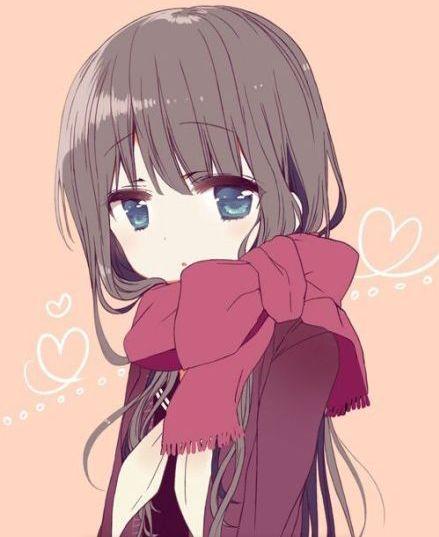 cute anime girl sad beautiful