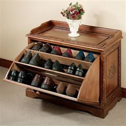 Victoriana Shoe Storage Bench Natural Cherry