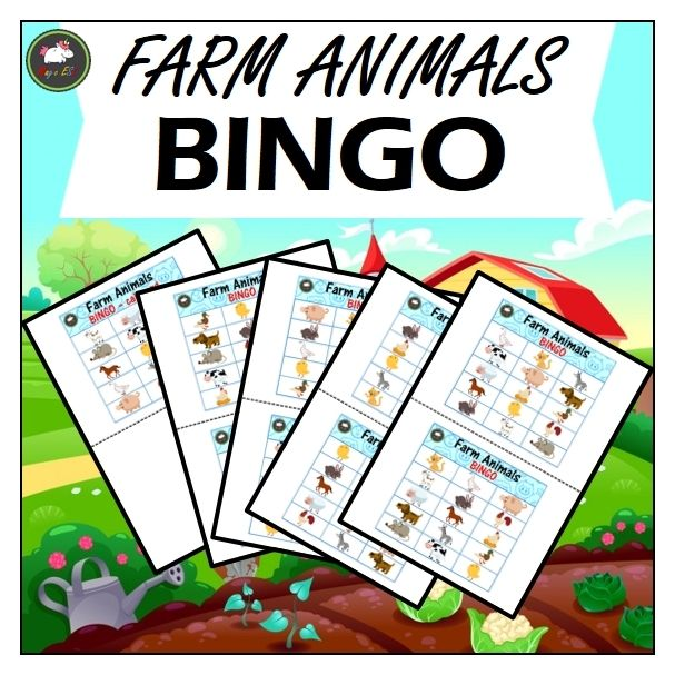 Bingo Farm Animals