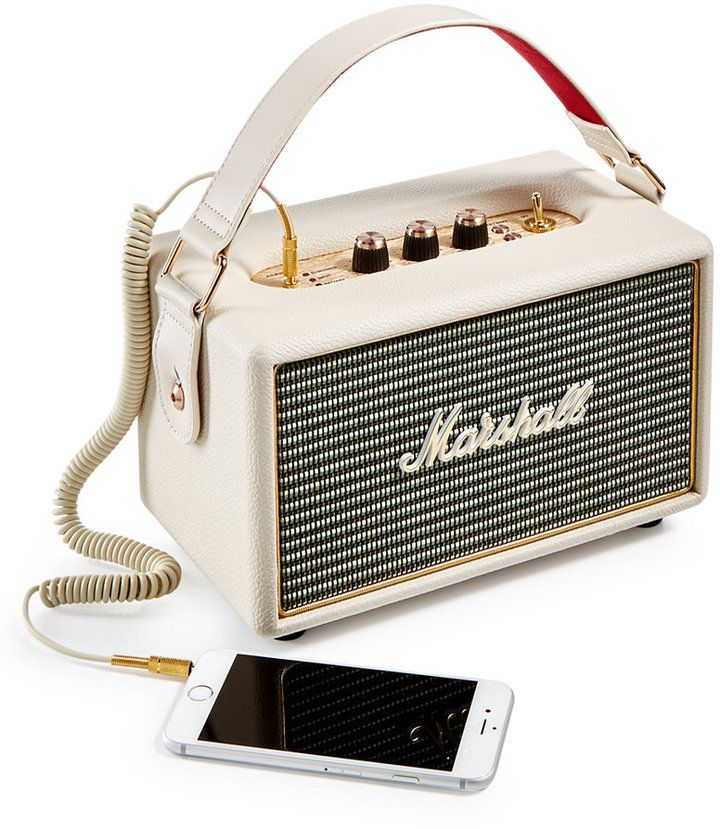 Marshall Kilburn Speaker. You're never without quality sound with Marshall's portable Kilburn speaker, designed with a vintage look and contemporary Bluetooth compatibility.