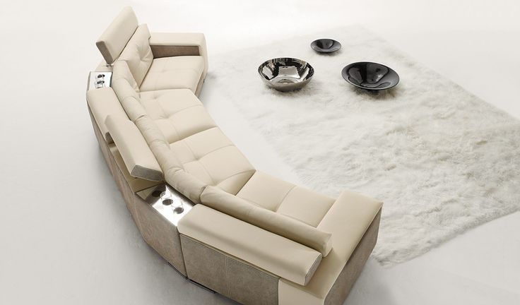 Soleado Leather Sectional, Gamma International, Italy