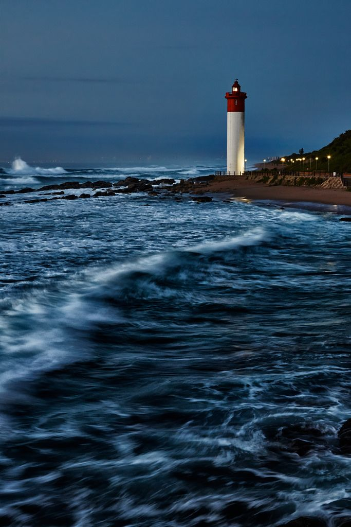 """travelingcolors: """"Umhlanga Lighthouse, Durban   South Africa (by Mark Mullen) """""""