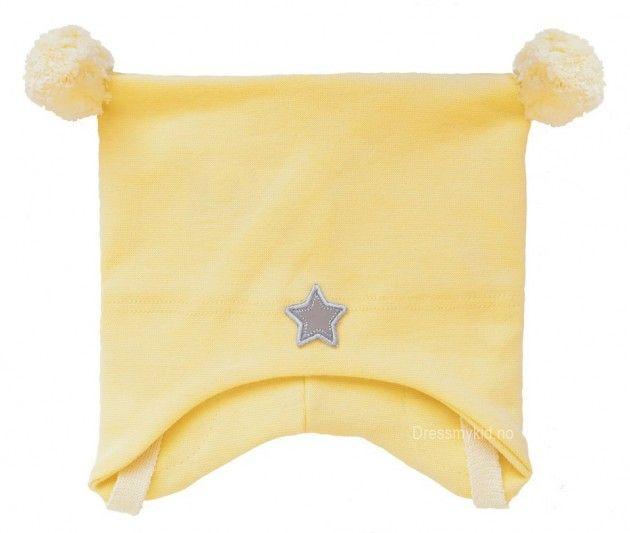 Kivat vårlue, gul med dusker og stjerne | DressMyKid.no - Barn og baby - Alltid gode tilbud