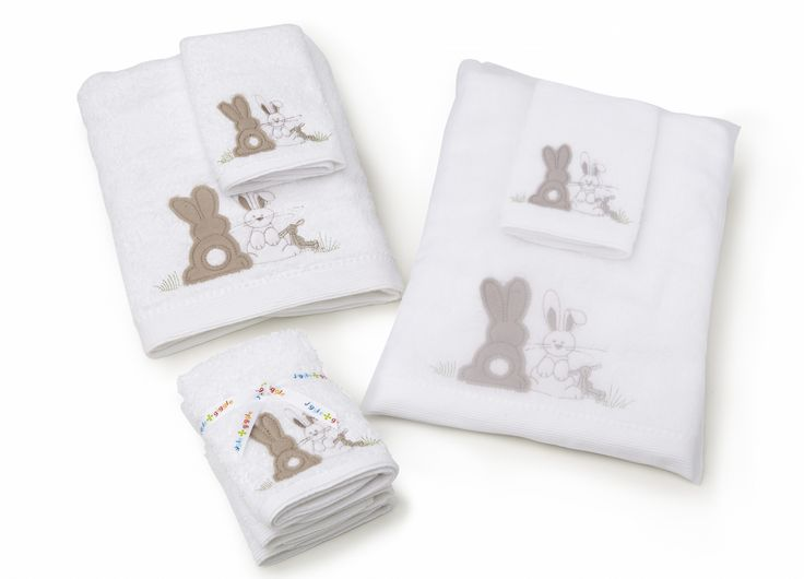 'Natural Bunnies' Towel range- bath towel and face washer #newborn #baby #bunny #gift #nursery #babyshower