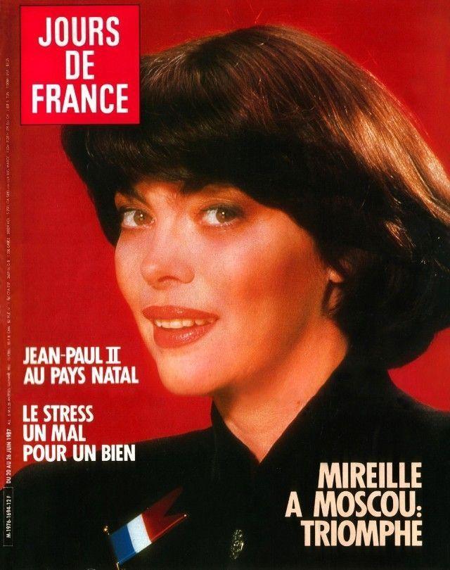 Mireille Mathieu - Jours de France Magazine Cover [France] (20 June 1987)