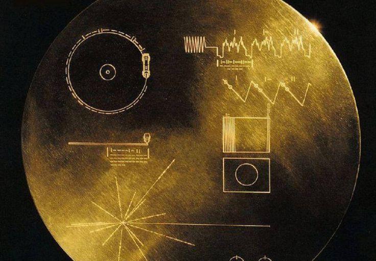 El Disco de Oro de las sondas Voyager.