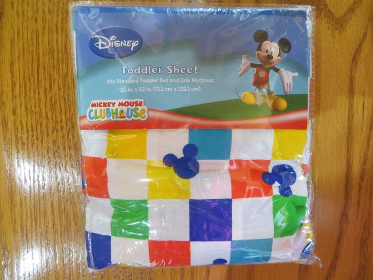 NEW Disney Mickey Mouse Clubhouse Crib Toddler Bed Sheet