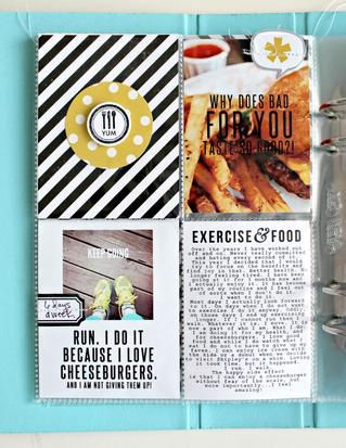 mini album & food card