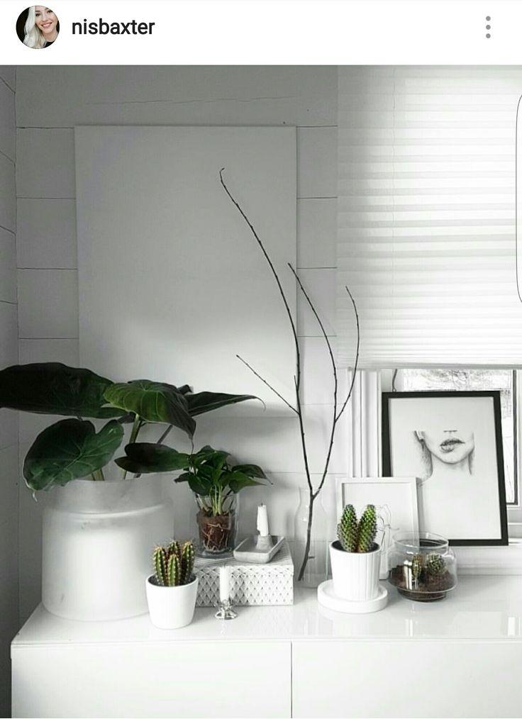 My scandinavian white livingroom Instagram: nisbaxter
