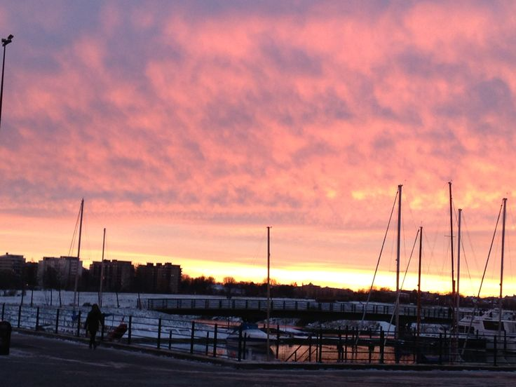 #Malmö #sea #sunset #colorfulsky #port