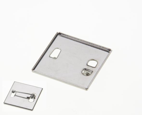 24 X 26mm Brooch Back Nickel Plated