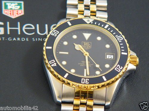 TAG Heuer 1000 Submariner Man Twotone 18K Plated/ st.steel ...