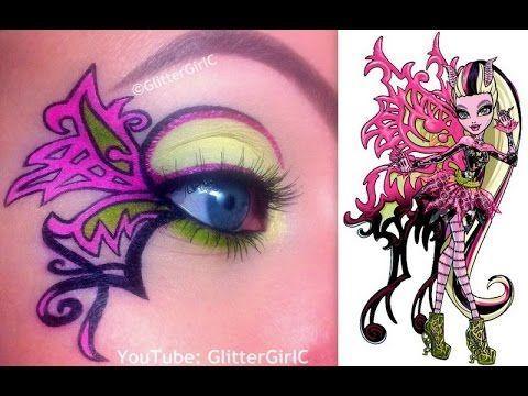 Monster High's Bonita Femur Makeup Tutorial. Youtube channel: full.sc/SK3bIA