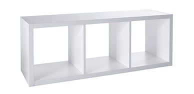 Etag re modulable 3 cases blanc mixxit blanc quitter le nid pinterest - Etagere rangement castorama ...
