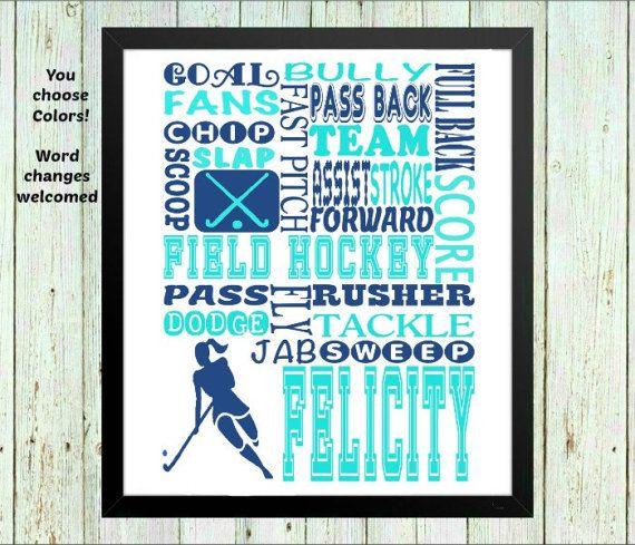Team gifts Personalized Field Hockey Gift / Field Hockey