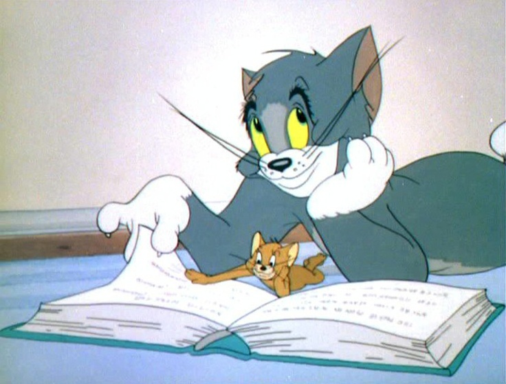 "Tom and Jerry ""Oh, I'm so sweet. There are no worries here."" said the cat to the mouse."
