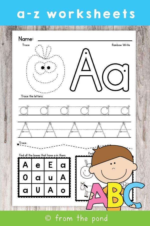 Alphabet Phonics Worksheets For Kindergarten Alphabet Worksheets Alphabet Worksheets Kindergarten Printable Alphabet Worksheets Printable learning alphabet worksheets