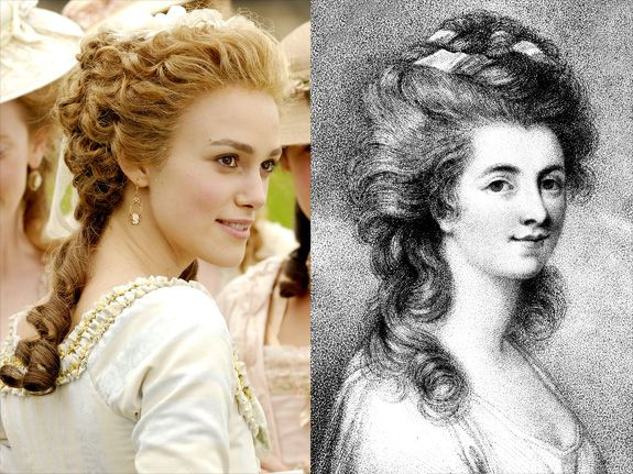keira knightley as georgiana, the duchess of devonshire