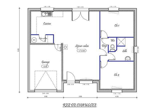 10 Plan Maison F3 How To Plan Floor Plans Maison