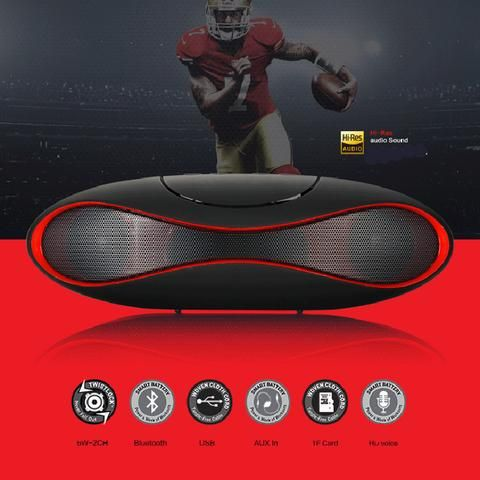 New Mult-function Portable Mini Football Wireless Bluetooth Speaker Mic HIFI…