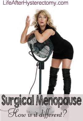Hot Flushes… Night Sweats… Mood Swings…a few of the surgical menopause symptoms one can expect! Whether or not they remove your ovaries along with the uterus, you will experience…