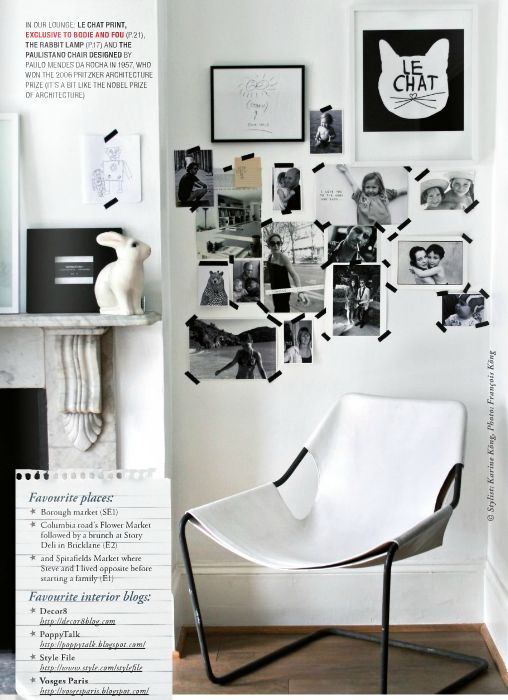 : Collage Walls, Living Room, Simple Collage