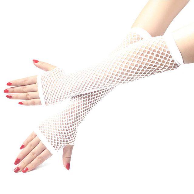 Black Hot Colours Short Fish Net Fingerless Gloves 80/'s Party Wear Goth