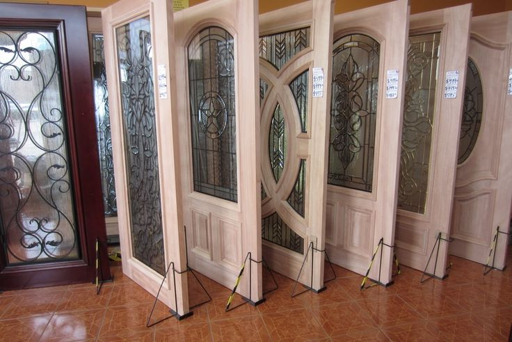Decorative Glass Mahogany Wood Doors Texas Star