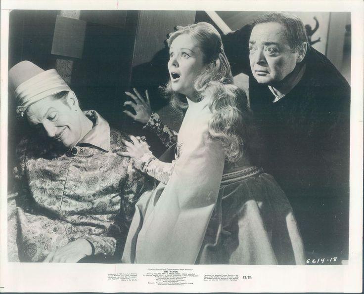 ORIGINAL PRESS PHOTO THE RAVEN VINCENT PRICE PETER LORRE OLIVE STURGESS 1963
