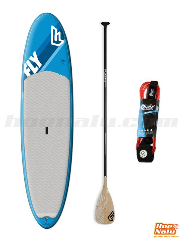"Fanatic Fly Pure Allround. Pack formado por tabla de paddle surf allround, Fanatic Fly Pure 10'0"", remo Fanatic Bamboo Carbon 40 y leash."