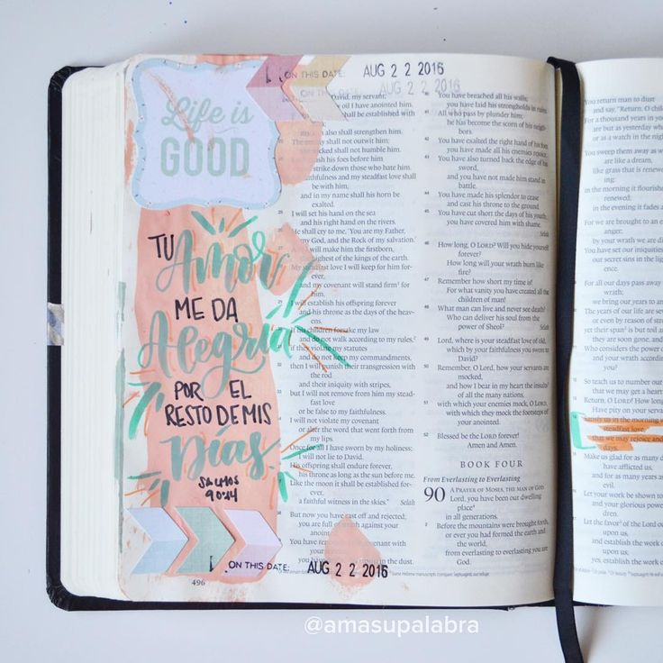 Bible Journaling en Español / Devocional Artistico Creativo / Biblia de Apuntes / Diario Biblico