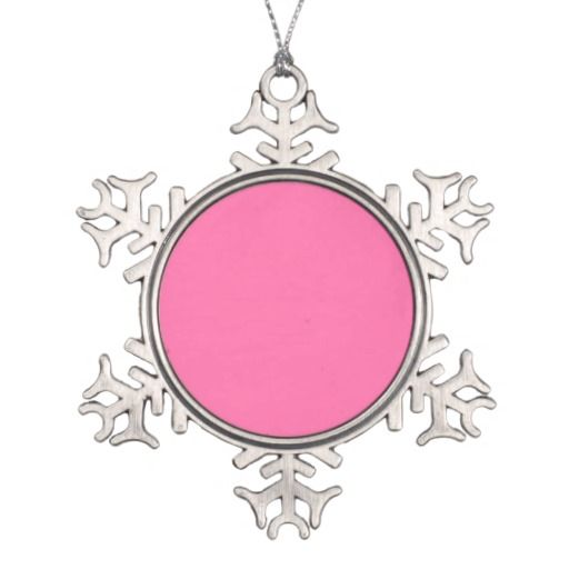 Snowflake winter ornament in fresh pink