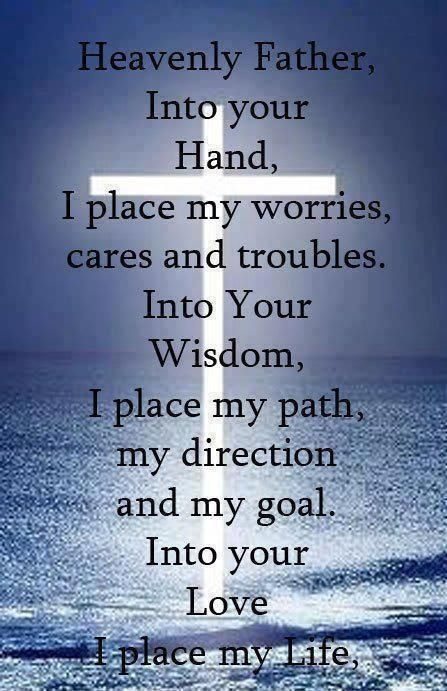 I place my worries into God's hands!