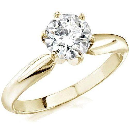 Diamantring mit einem 0.50 Karat Solitär Diamanten in einer 585er Gelbgoldfassung. Dieser Diamantring ist für nur 1299.00 Euro bei www.juwelierhausabt.de erhältlich.