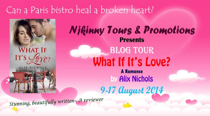 Checkout the #BlogTour #WrapUp post for Alix Nichols' book, #WhatIfItsLove, read the posts on the various participating blogs and enter the ongoing #Giveaways to win $15 Amazon GC and copies of the book!  http://njkinny.blogspot.in/2014/08/blog-tour-wrap-up-what-if-its-love-by.html #Romance #NA #JustFinishedTour #NjkinnyToursPromotions