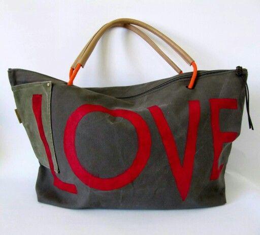 XXL Beach bag 'LOVE'