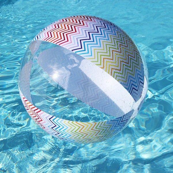 Ballon de plage Zig Zag #bouée #gonflable #jeu #jeux #nage #natation #swimming…