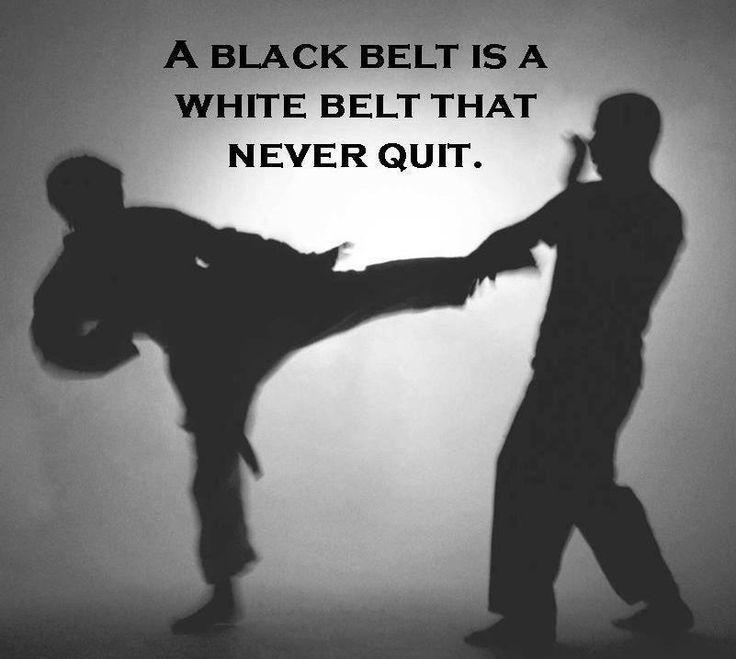 A Black Belt is a White Belt That Never Quit | Martial Arts ...
