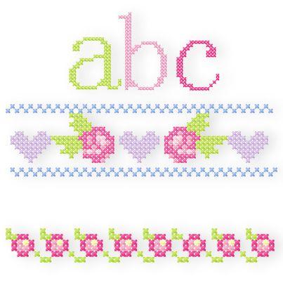 Kleines Kreuzstich-ABC Passend zum Großen Kreuzstich-ABC gibt es hier alle Kleinbuchstaben samt ä,ü und ö. Diese Kreuzstichmotive wirken wie von Oma liebevoll von Hand gestickt. Besonders mit 30er Baumwoll-Stickgarn gestickt sehen sie am allerschönsten aus, aber selbst mit 40er Stickgarn geht der Handarbeits-Charakter nicht verloren. Für Designbeispiele und Größen bitte klicken