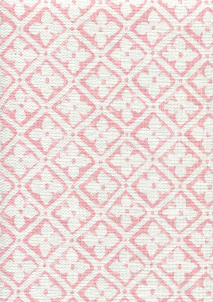Quadrille fabric Puccini soft pink on white linen....neck roll?