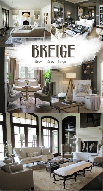 HELLO METRO: Color Crush {BREIGE} To design a room that is soothing, sophisticated and warm, try working with an entirely neutral palette of browns, grays and beiges.